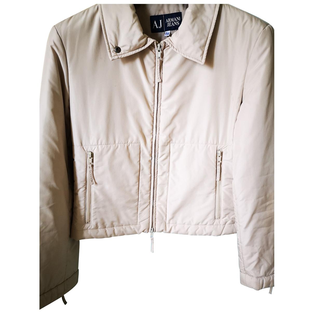 Armani Jeans \N Jacke in  Beige Polyester