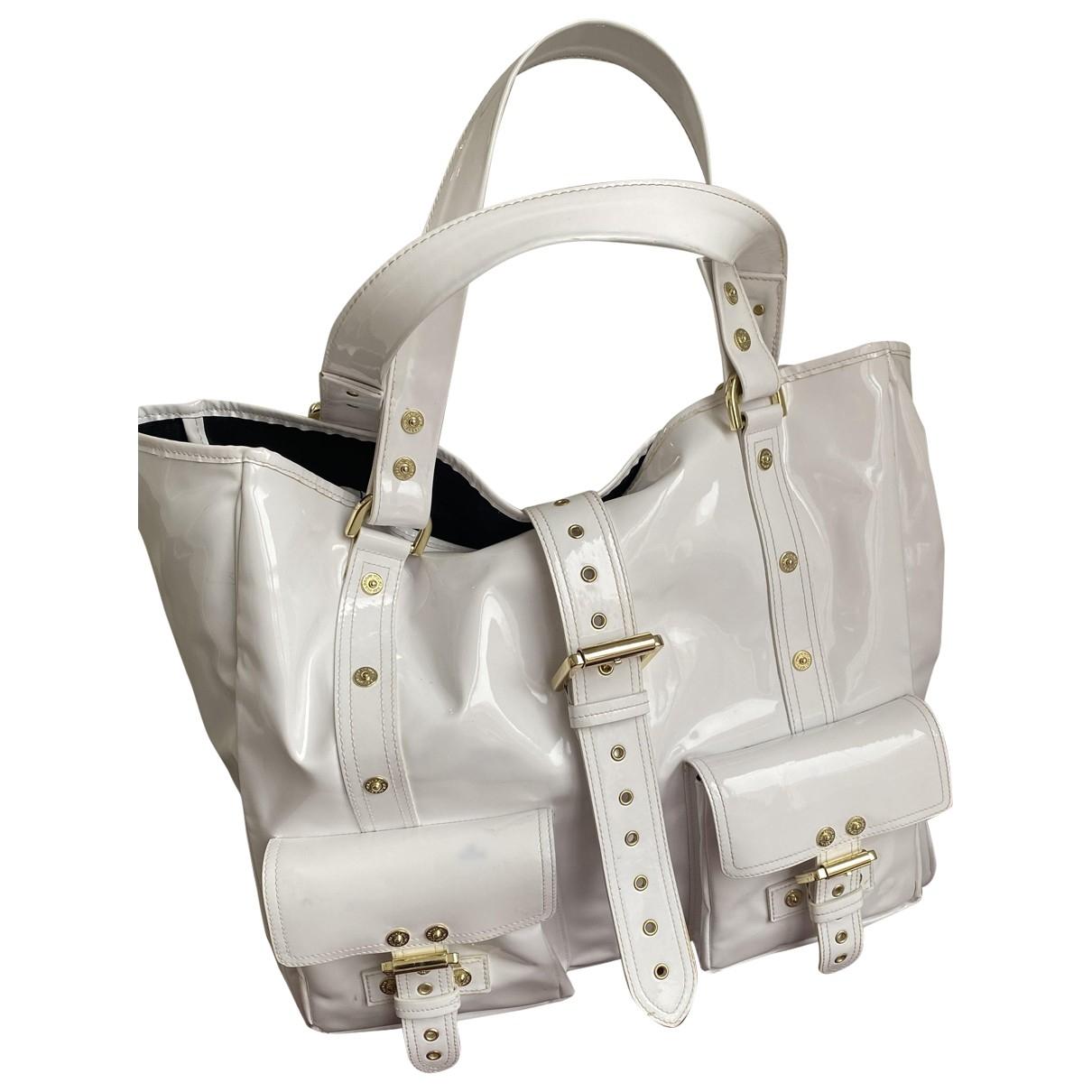 Mulberry Roxanne Handtasche in  Weiss Lackleder