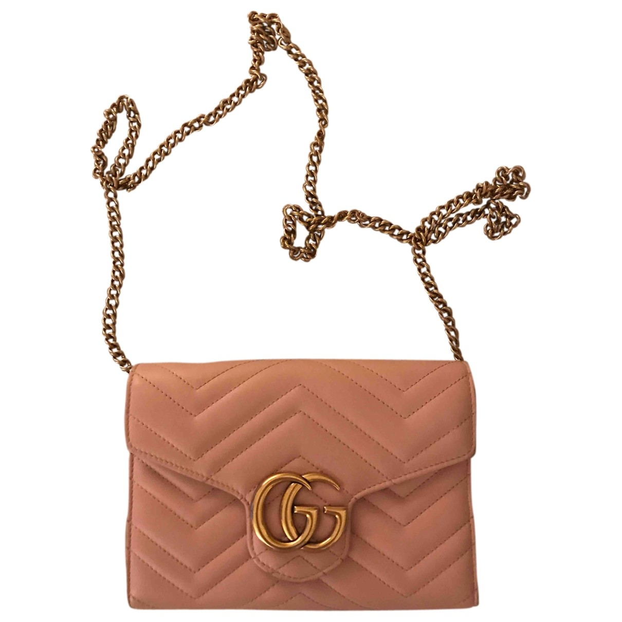 Gucci Marmont Clutch in  Rosa Leder