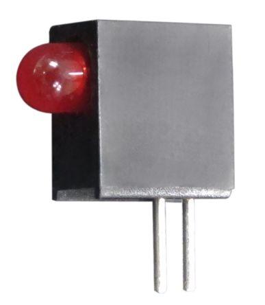 Kingbright L-710A8EW/1LID, Red Right Angle PCB LED Indicator, Through Hole 2.5 V (20)