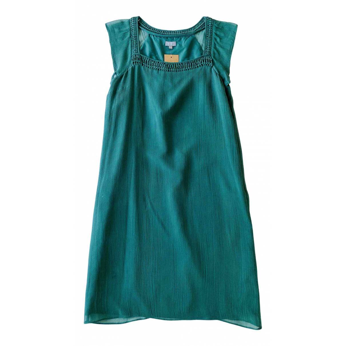 Hoss Intropia N Green Silk dress for Women 36 FR