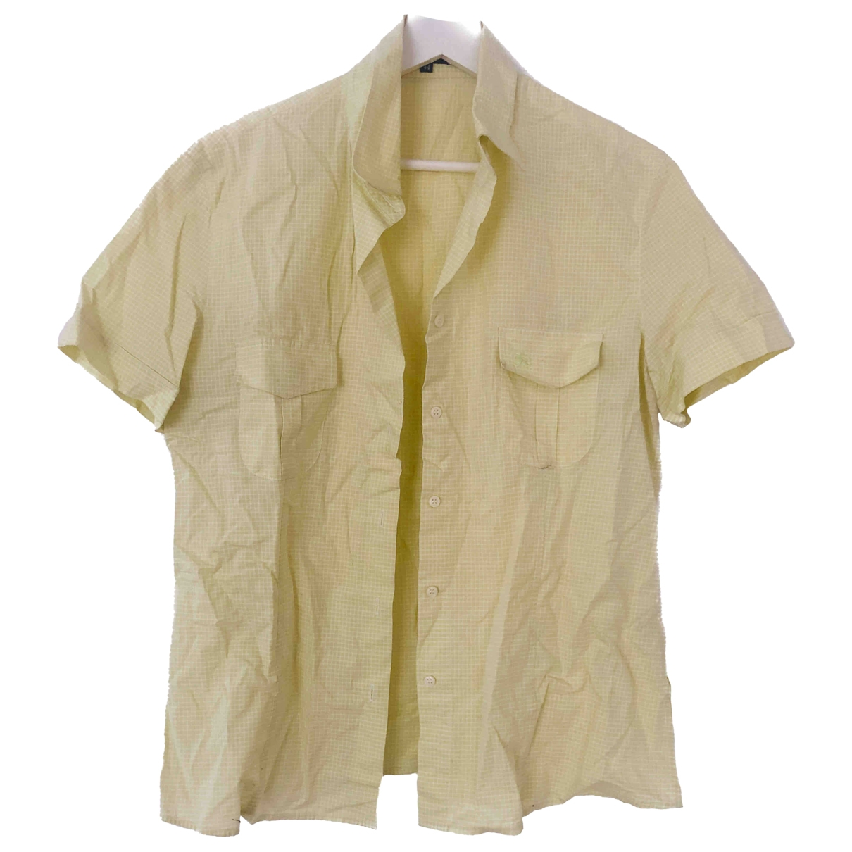 Burberry \N Yellow Cotton  top for Women 44 IT