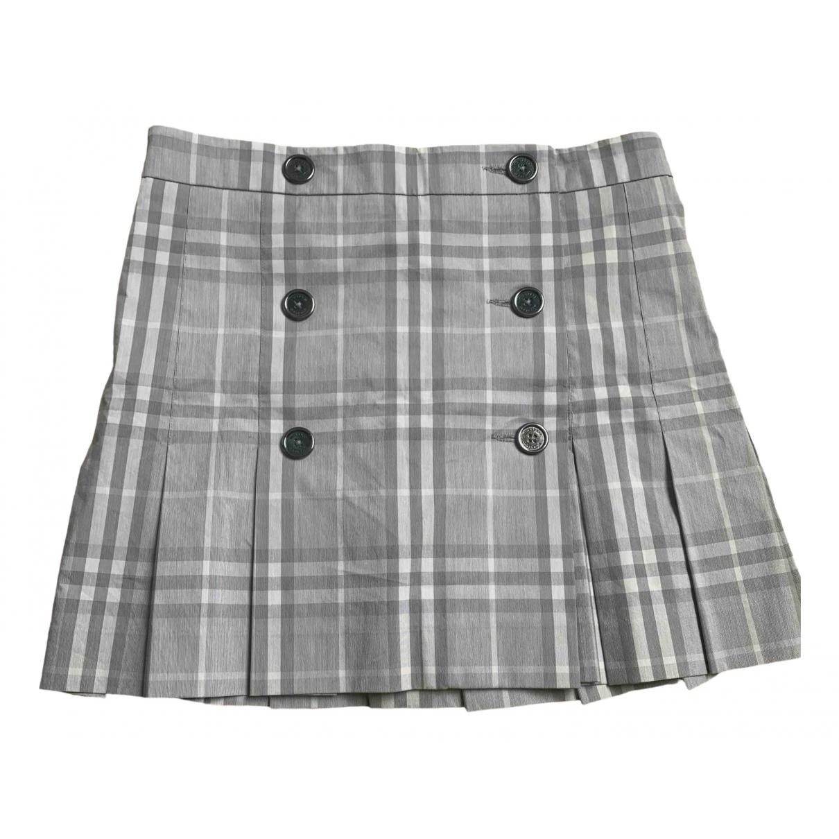 Burberry - Jupe   pour femme en coton - elasthane - gris