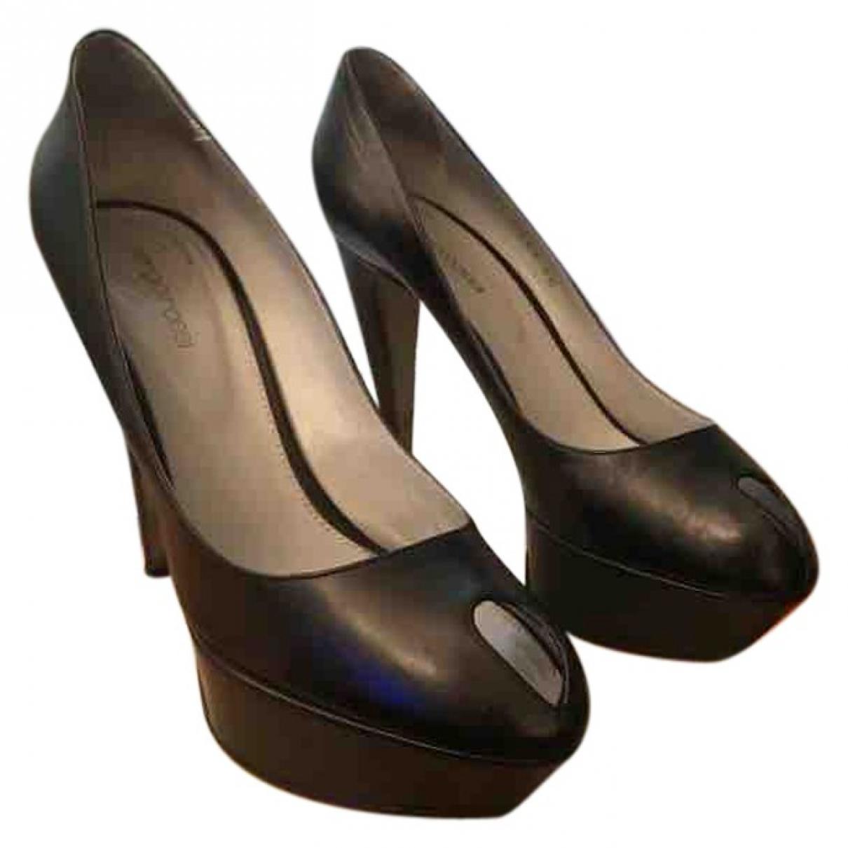 Sergio Rossi - Escarpins   pour femme en cuir - noir