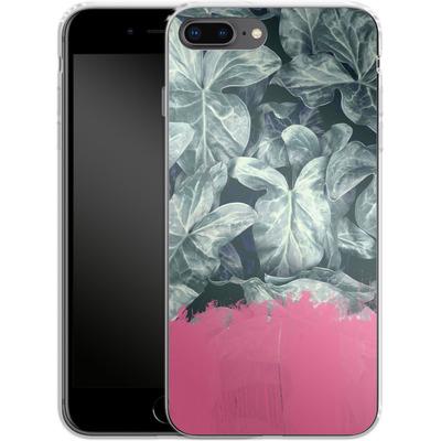 Apple iPhone 7 Plus Silikon Handyhuelle - Sweet Pink on Jungle von Emanuela Carratoni
