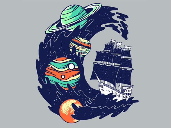 Space Ship T Shirt
