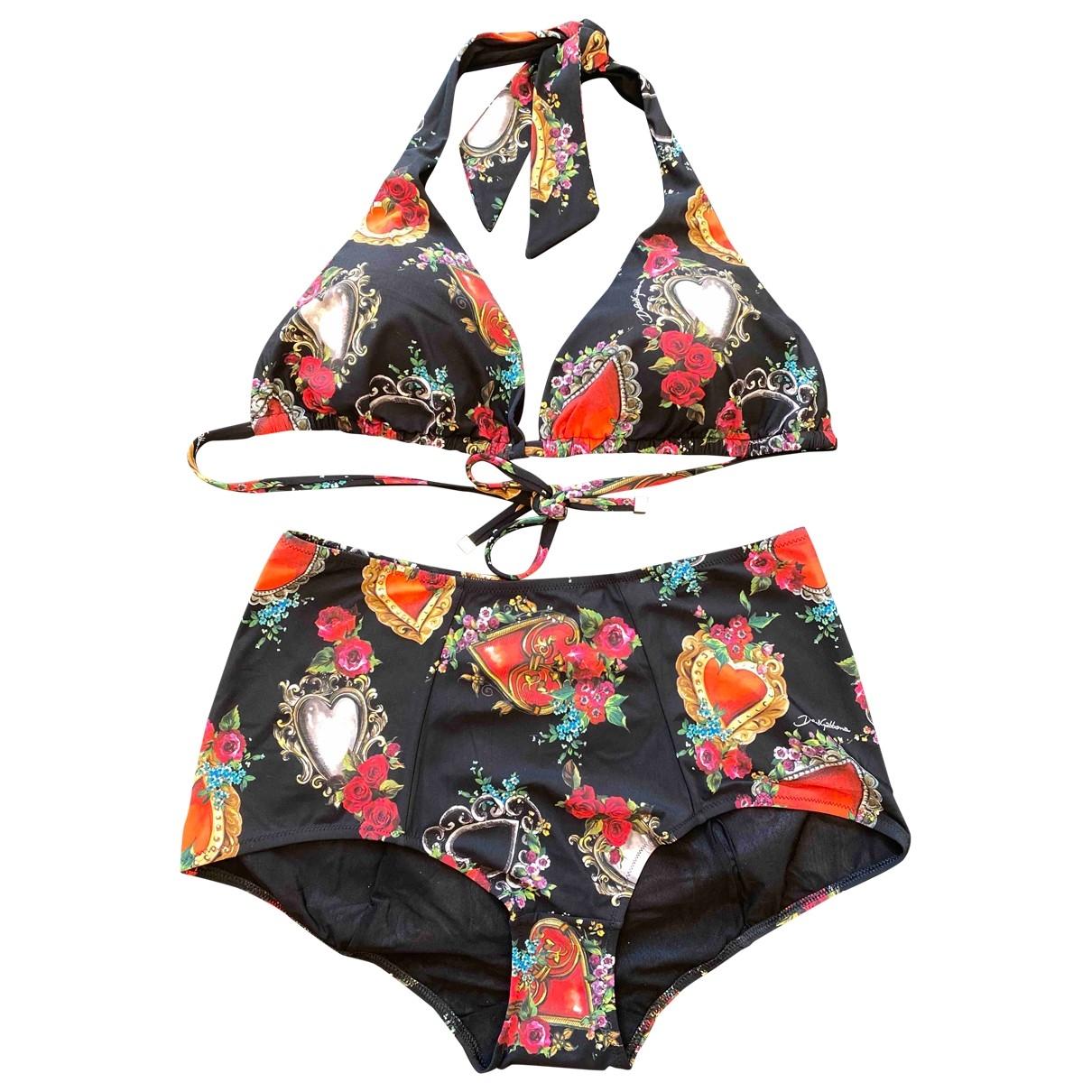Dolce & Gabbana \N Badeanzug in  Schwarz Synthetik
