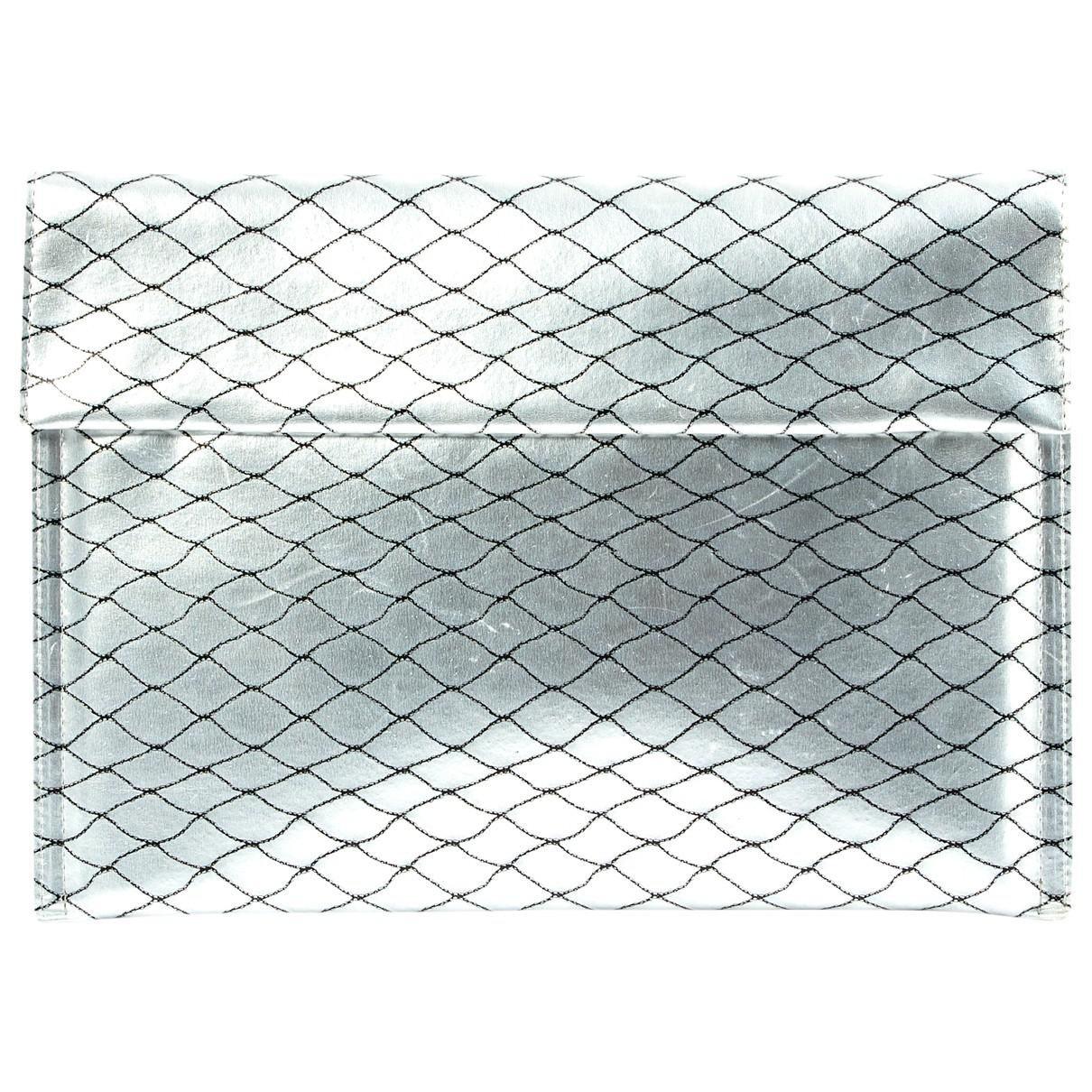 Mm6 \N Silver Leather Clutch bag for Women \N