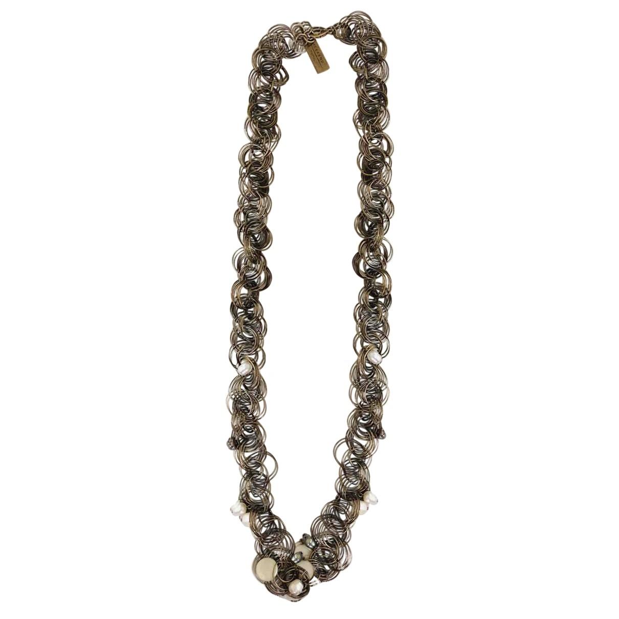 Max Mara Weekend \N Gold Metal Long necklace for Women \N