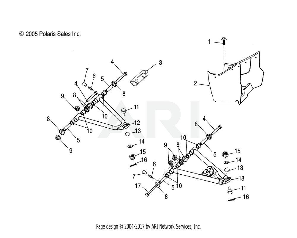 Polaris OEM 0453061 Footrest, LH