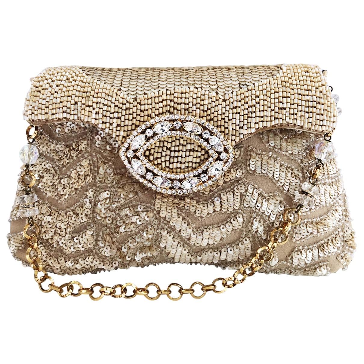 Maddalena Marconi \N Beige Silk Clutch bag for Women \N