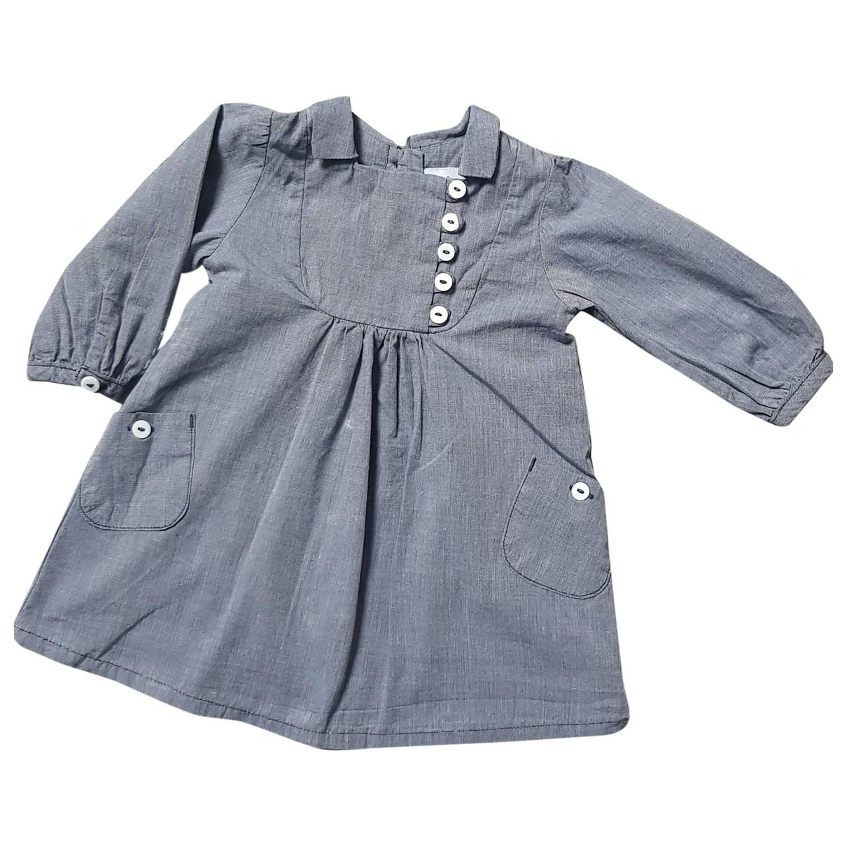 Petit Bateau - Robe    pour enfant en coton - gris