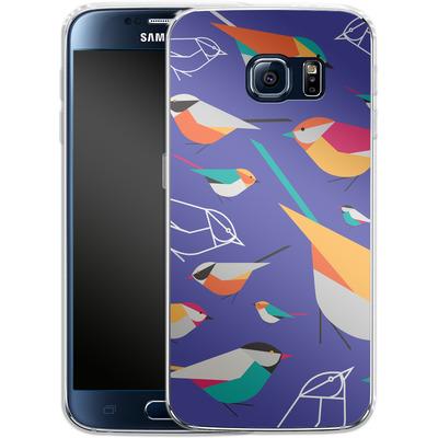 Samsung Galaxy S6 Silikon Handyhuelle - Birds Talk von Susana Paz