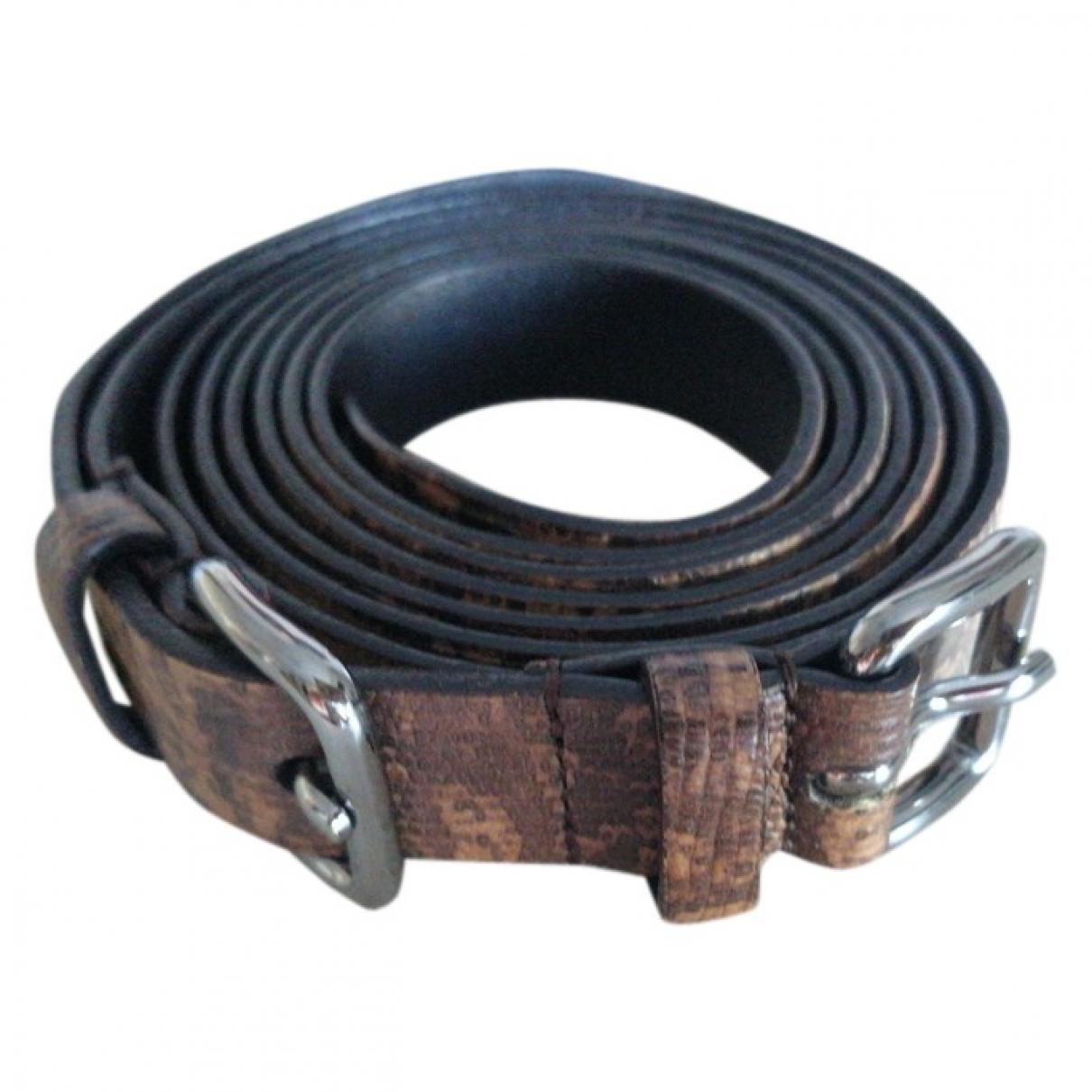 Miu Miu \N Ecru Leather belt for Women M International
