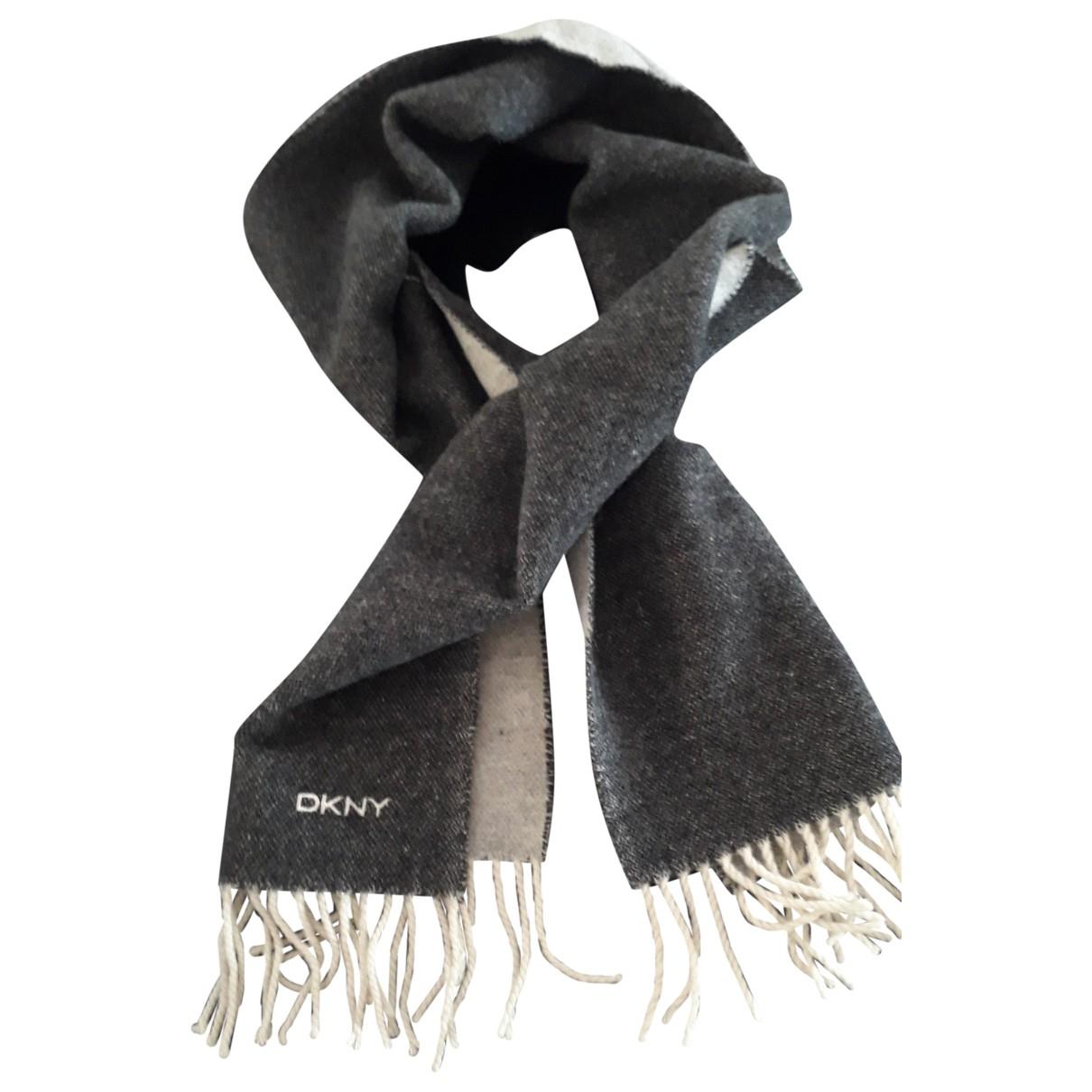 Dkny \N Schal in  Grau Wolle