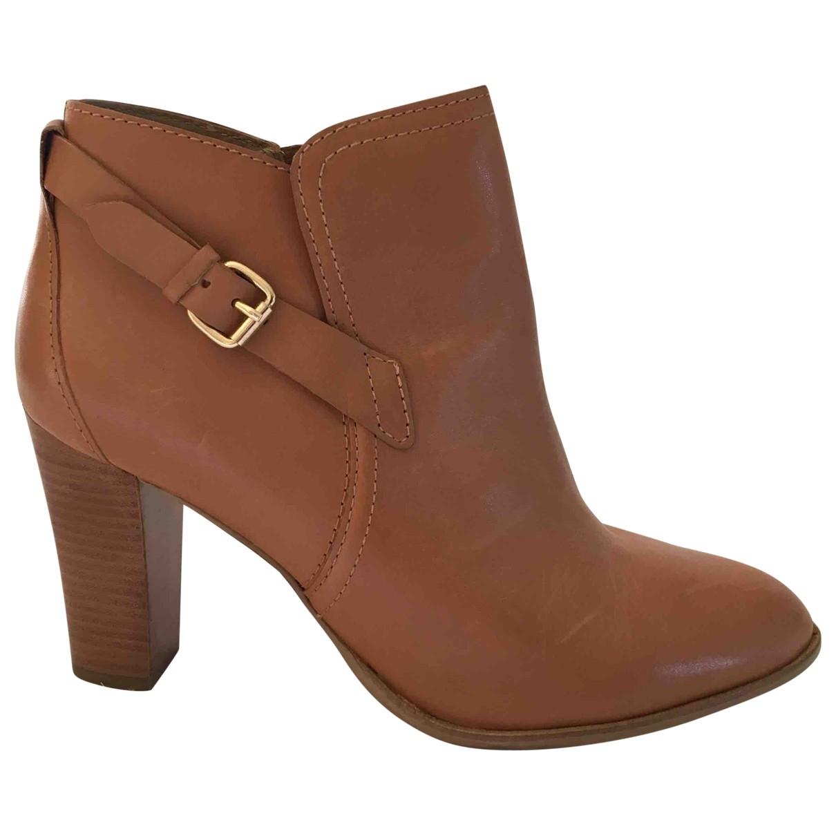 Reiss - Boots   pour femme en cuir - marron
