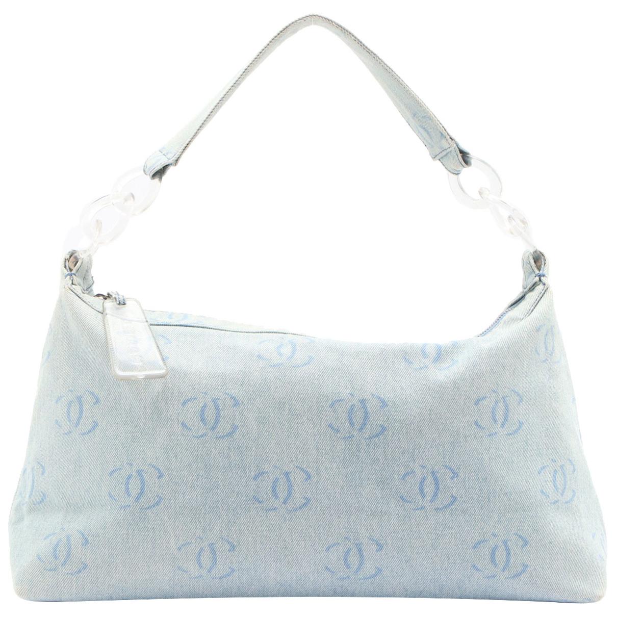 Chanel N Blue Denim - Jeans handbag for Women N
