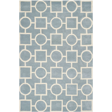 Safavieh Louella Geometric Hand Tufted Wool Rug, One Size , Blue