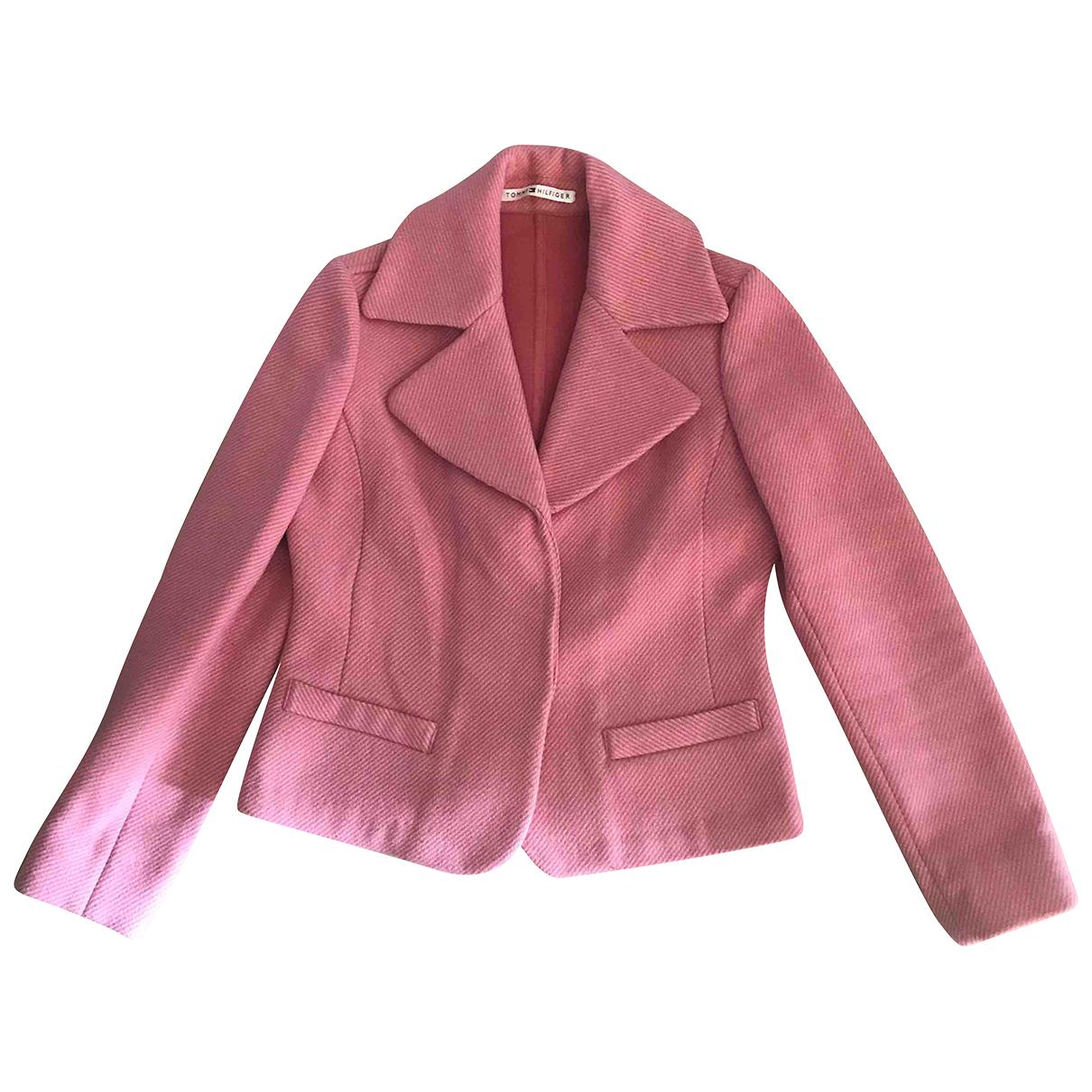 Tommy Hilfiger - Veste   pour femme en laine - rose