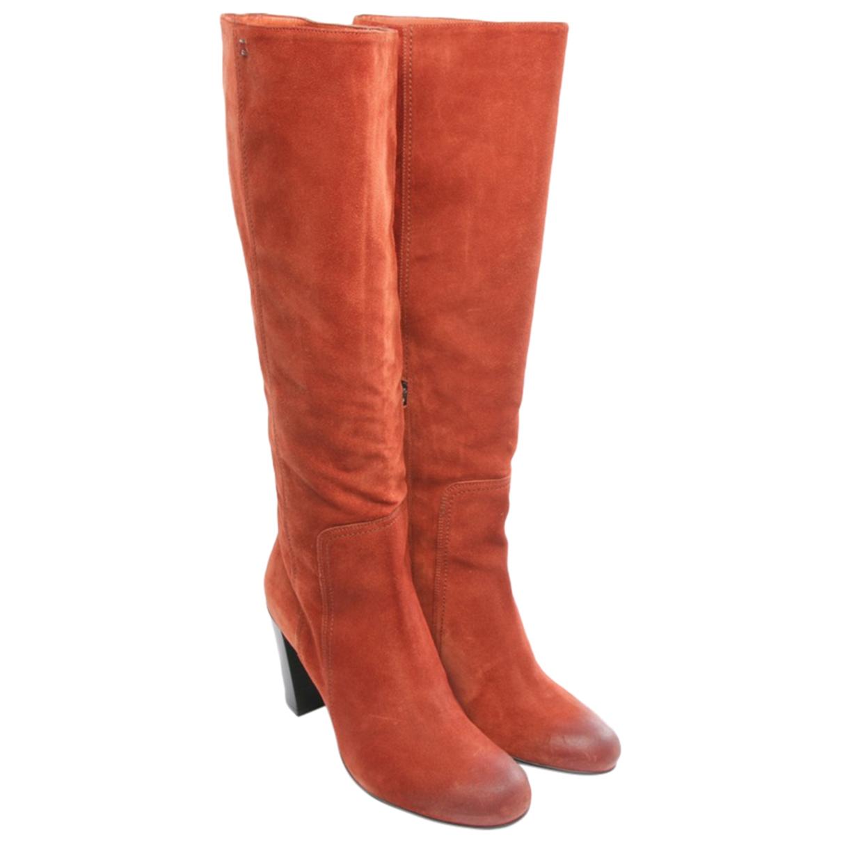 Santoni - Bottes   pour femme en cuir - marron