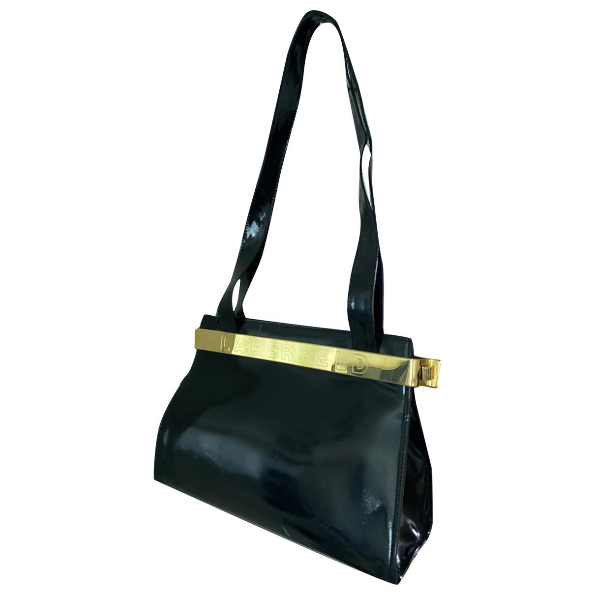 Karl Lagerfeld \N Black Patent leather handbag for Women \N