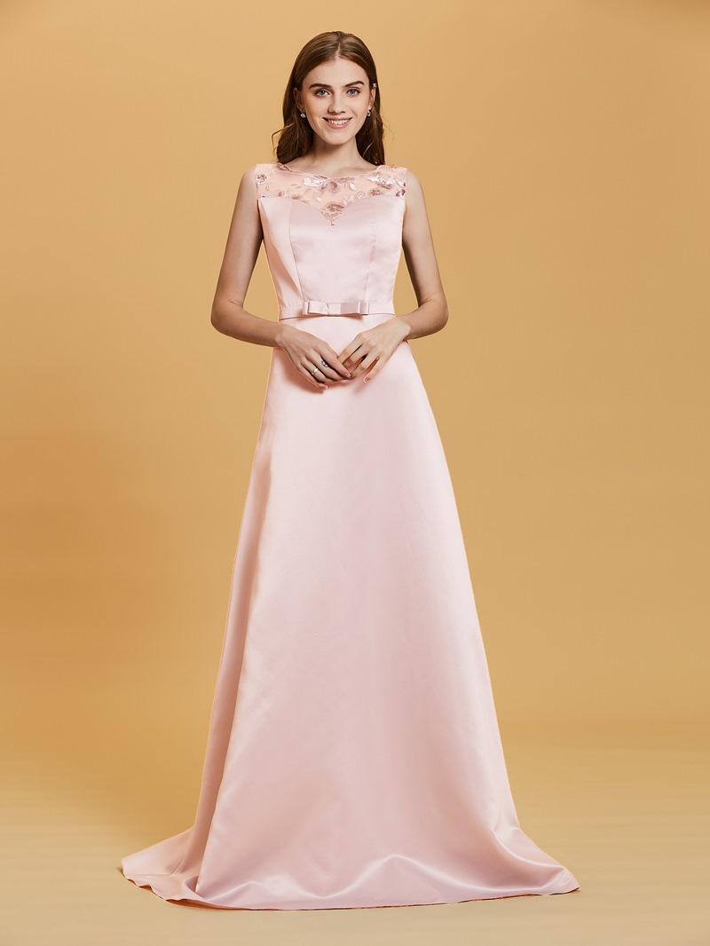Ericdress Scoop Neck Sequins A Line Long Evening Dress