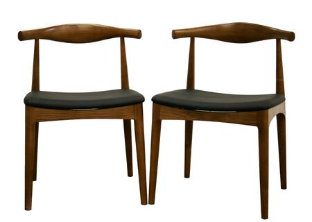 DC-593 Sonore Series Solid Wood Mid-Century Style Accent Dining Chair (Set of