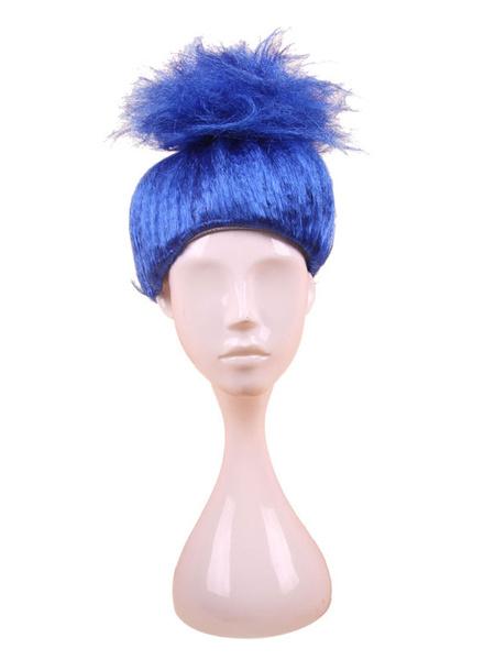 Milanoo Disfraz Halloween Pelucas de carnaval Accesorios de disfraces de peluca cosplay sintetica de alta calidad Halloween