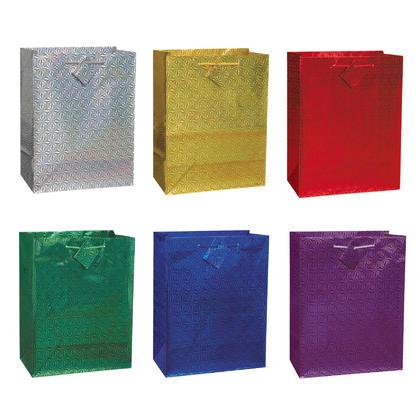 Assortiment de sacs-cadeaux hologrammes de taille moyenne, 9