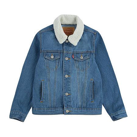 Levi's Big Boys Denim Jacket, Small , Blue