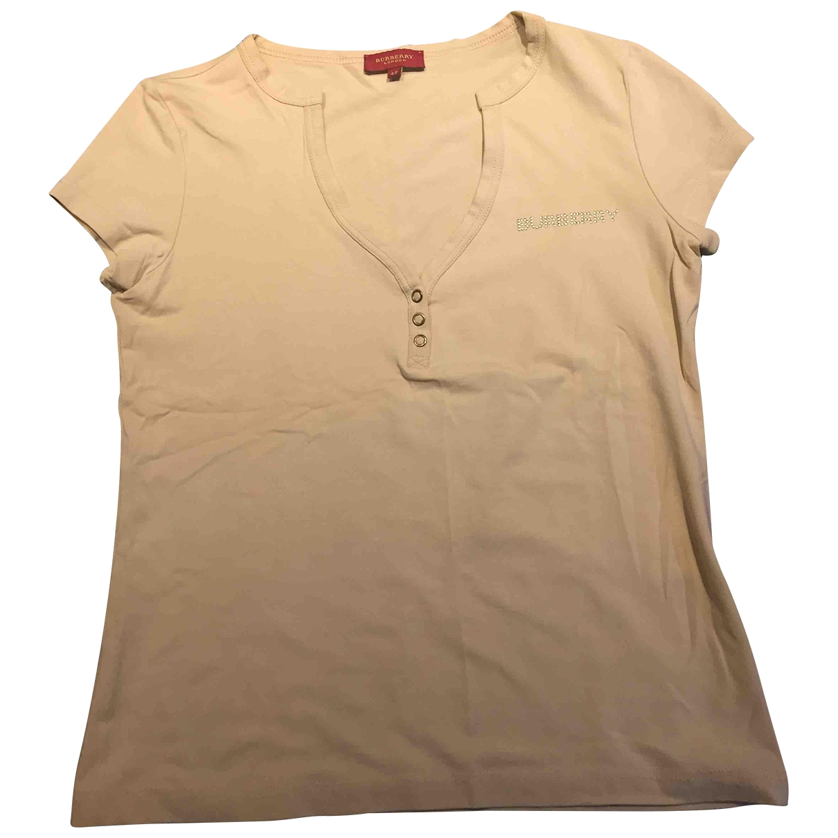 Burberry \N Beige Cotton  top for Women 42 IT