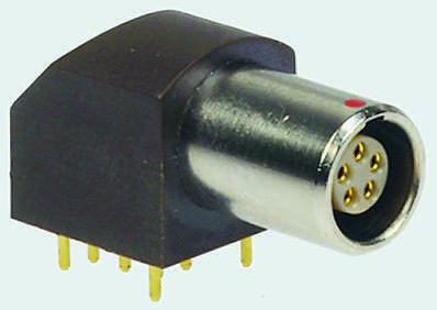 Lemo Connector, 5 contacts Panel Mount Socket, Solder