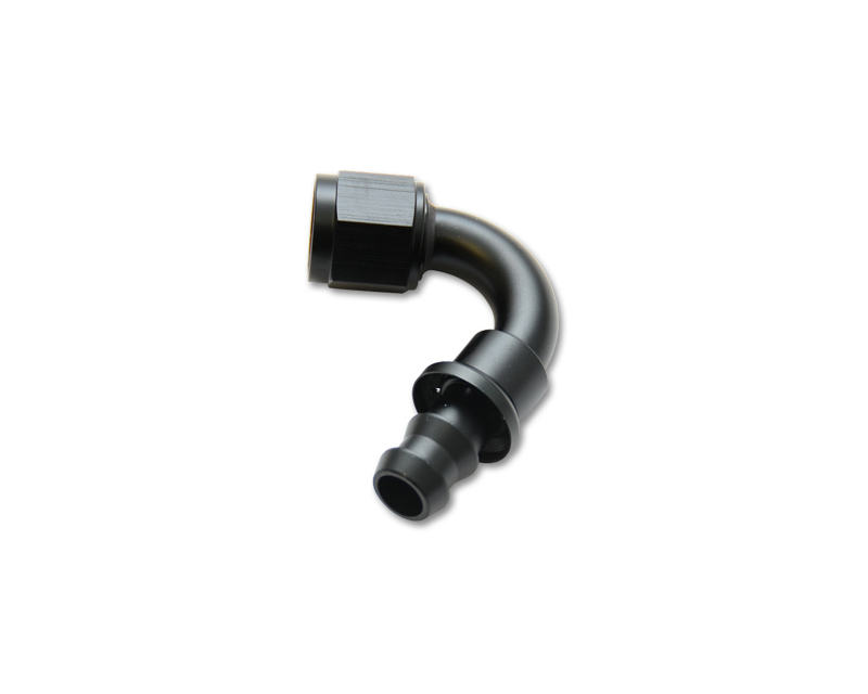 Vibrant Performance 22204 Anodized Black -4AN Push-On 120 Degree Hose End Fitting