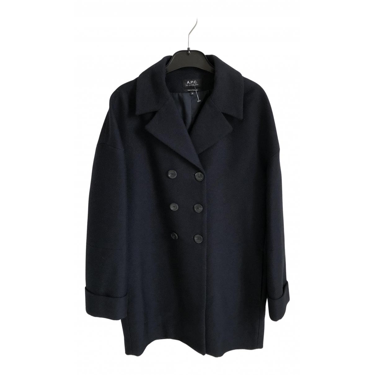 Apc - Manteau   pour femme - marine