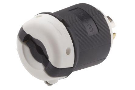 RS PRO USA Mains Plug NEMA L21 - 30P, 30A, Cable Mount, 120/208 V, Black