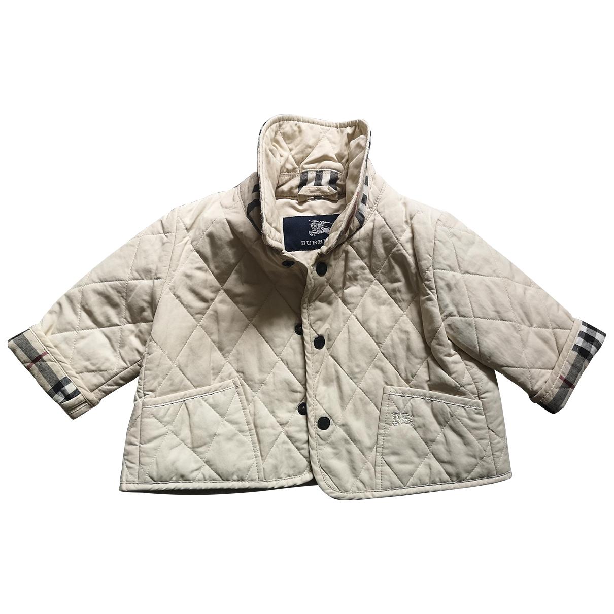Burberry - Blousons.Manteaux   pour enfant en coton - ecru