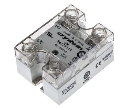 Sensata / Crydom 10 Arms Solid State Relay, Zero Voltage Turn-On, Panel Mount, TRIAC, 660 V ac Maximum Load