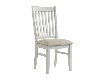 Wyatt Collection 5075-52-2 2-Pack Dining Chairs in White and Light Tan