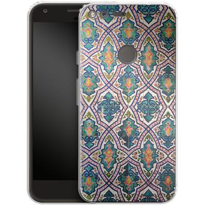 Google Pixel Silikon Handyhuelle - Tile Pattern von Omid Scheybani