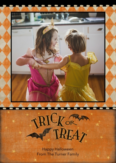 Halloween Photo Cards 5x7 Folded Cards, Standard Cardstock 85lb, Card & Stationery -Trick or Treat