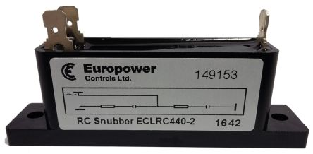 Europower Controls Snubber Capacitor 440V dc 2-ways Panel Mount ECLRC440 Series
