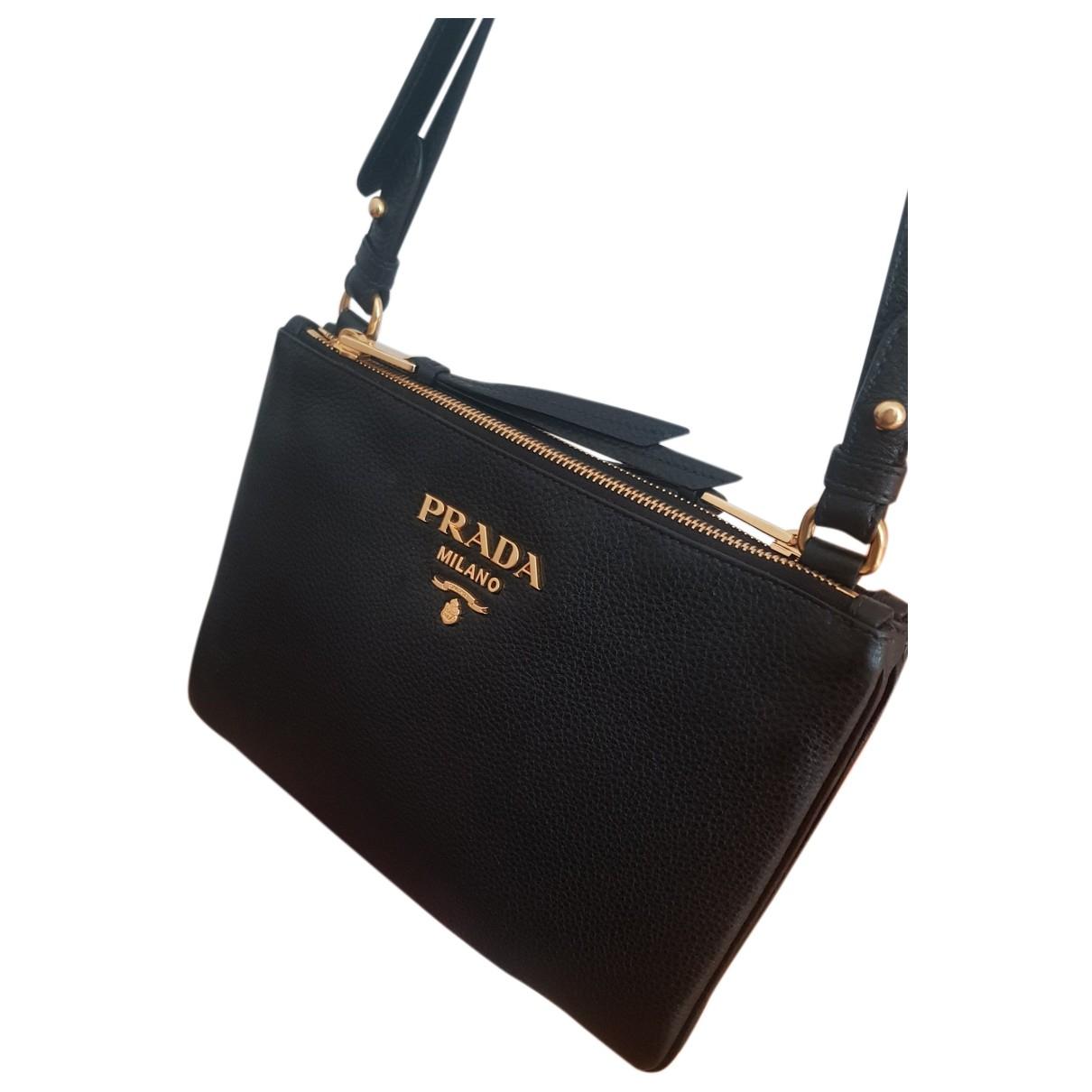 Prada - Sac a main Light Frame pour femme en cuir - noir