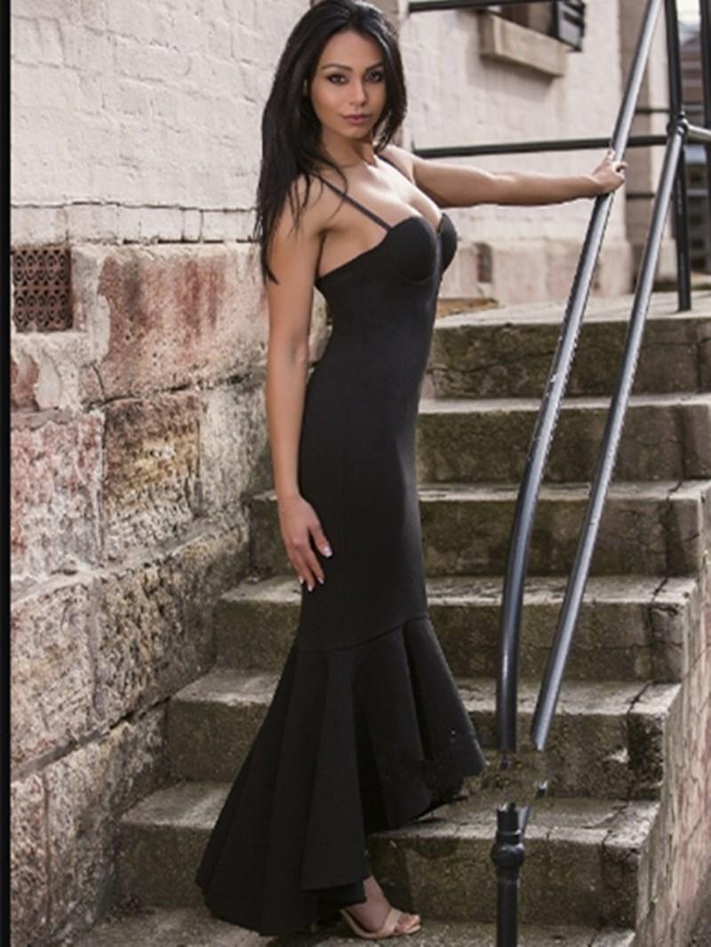 Ericdress Mermaid Spaghetti Straps High Low Evening Dress