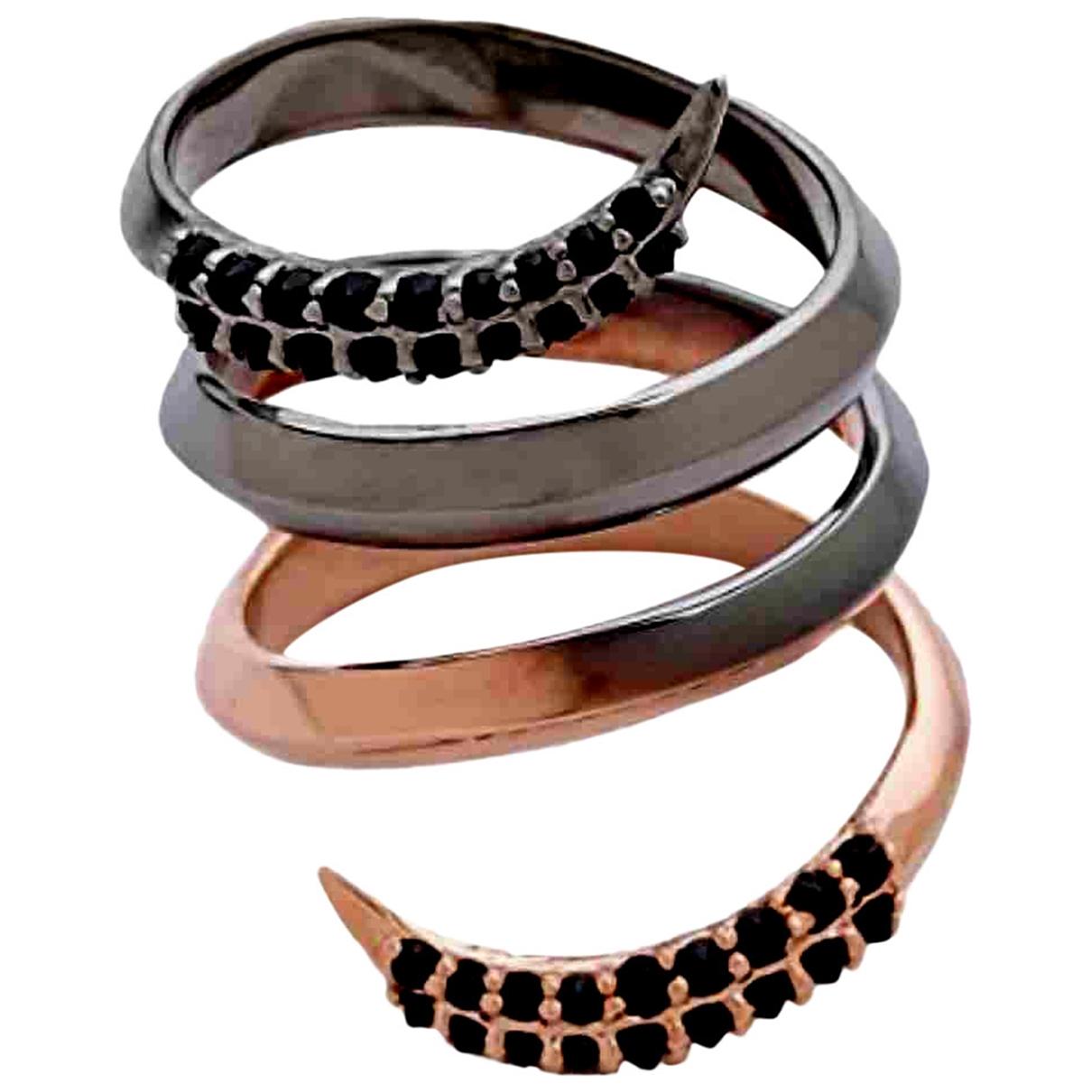Katie Rowland \N Ring in  Schwarz Silber