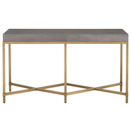 6119.GRY-SHG/GLD Strand Collection 6119.Gry-Shg/Gld Shagreen Console Table In