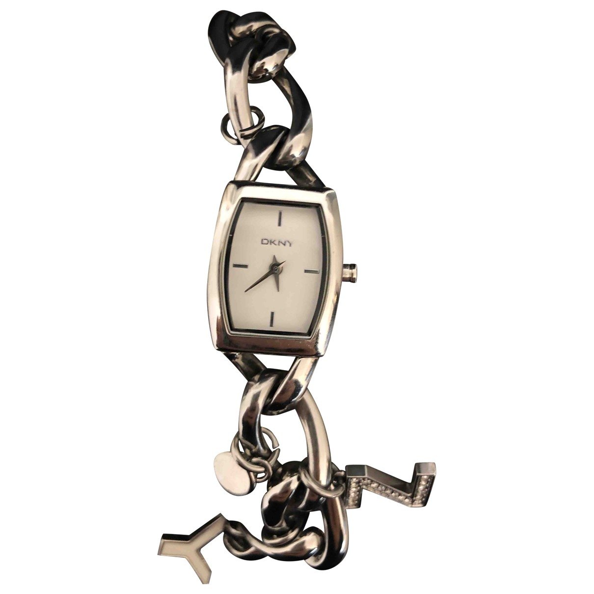 Dkny \N Metallic Steel watch for Women \N
