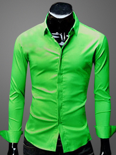 Milanoo Turndown Collar Long Sleeves Cotton Blend Shirt