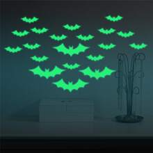 1set Bat Luminous Wall Sticker