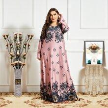 Maxi Kleid mit Blumen Muster
