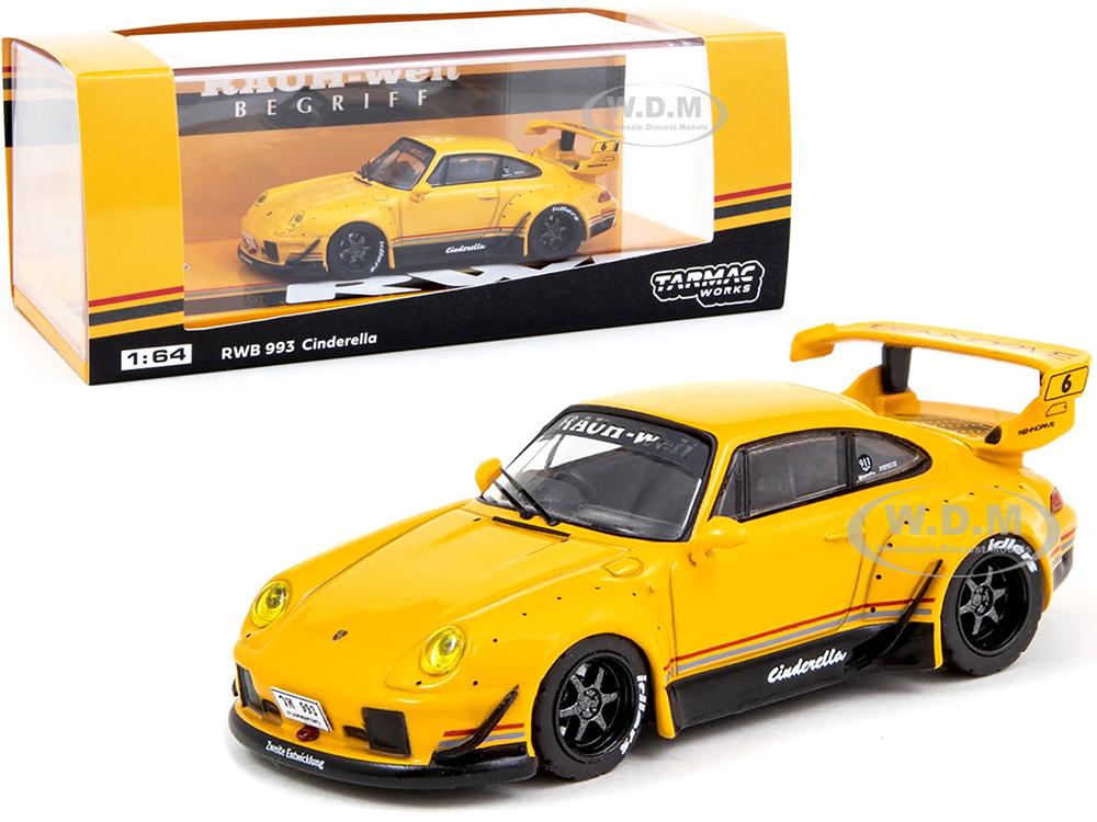 Porsche RWB 993 Cinderella 6 Yellow (Thailand Exclusive) RAUH-Welt BEGRIFF 1/64 Diecast Model Car by Tarmac Works
